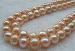 """18"""" Pink South Sea Baroque Pearls 14kt Gold Necklace"""