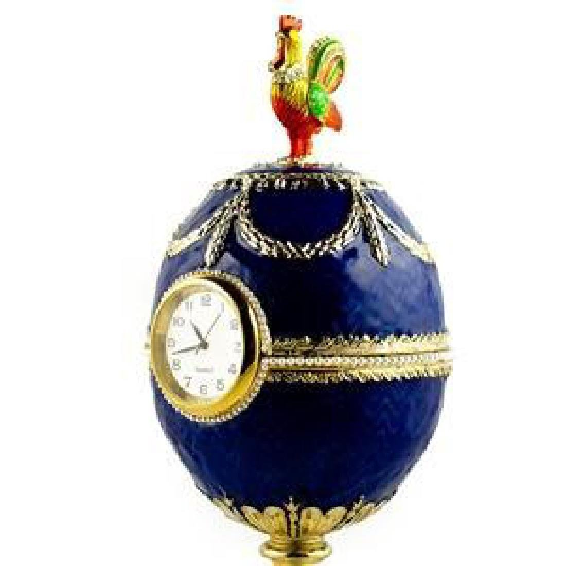 Faberge Inspired 1904 Kelch Chanticleer Russian Faberge - 4