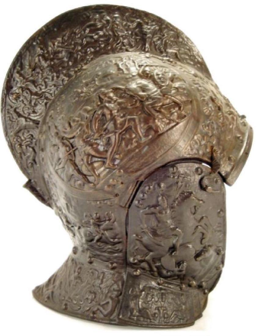 Victoria Crested Bronze High Relief Helmet - 2