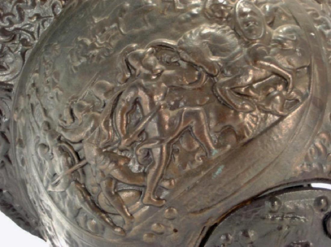 Victoria Crested Bronze High Relief Helmet - 5