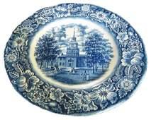 Staffordshire Liberty Blue Ironstone Dinner Plate