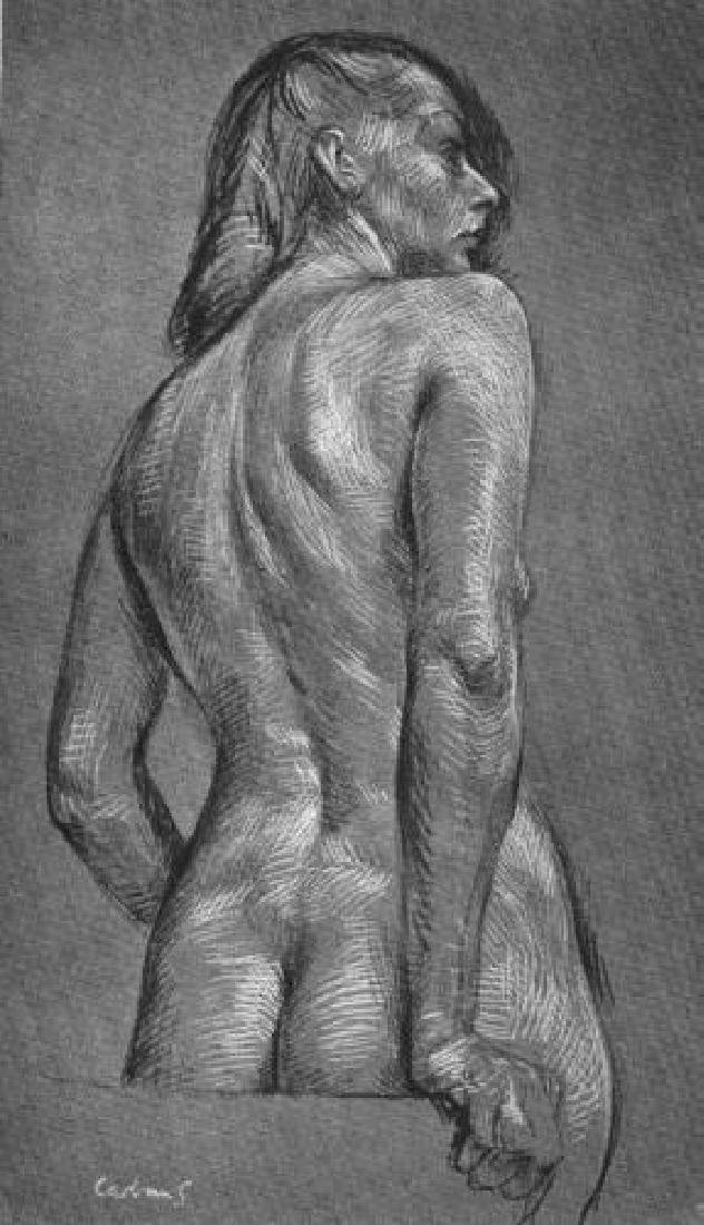 Paul Cadmus Book Plate Print Nude Study