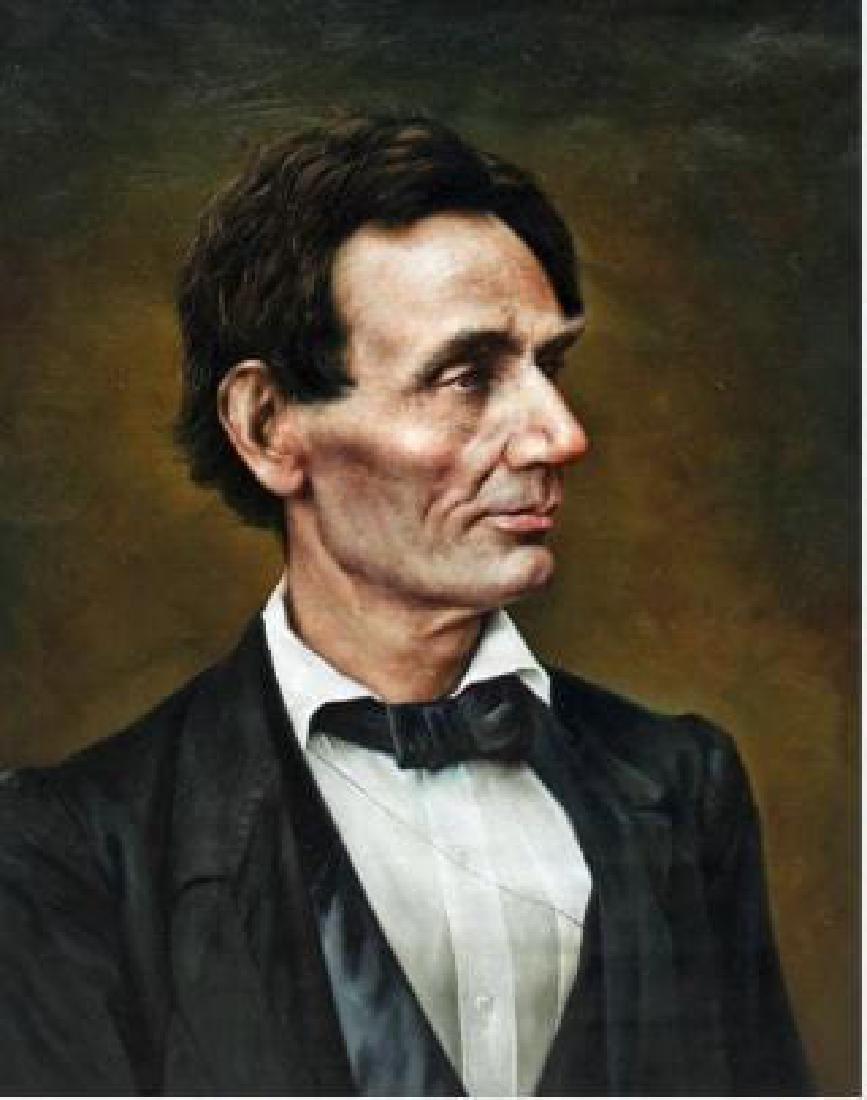 """Abraham Lincoln, Fine Oil Portrait Lincoln 24 x 30"""""""