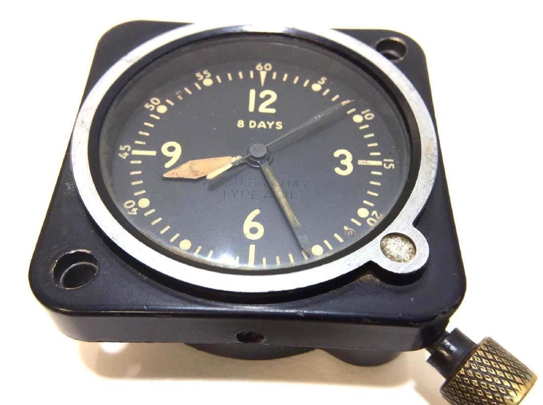 LeCoultre 8-Day Mechanical Aircraft Dashboard Clock