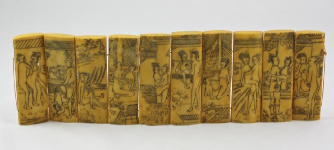 Vintage Chinese Erotic Scenes Tablets