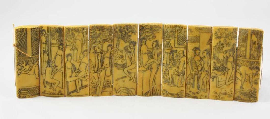 Vintage Chinese Erotic Scenes Tablets - 4