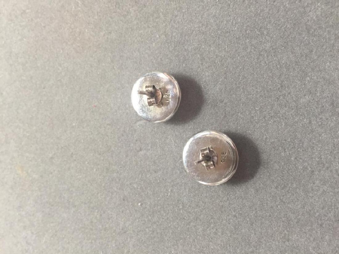 Vintage Baltic Amber & Sterling Earrings - 2