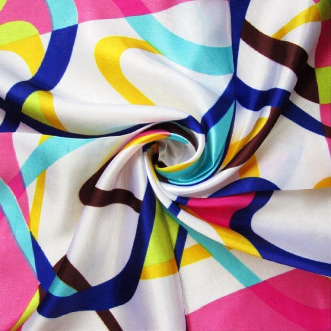Colorful Abstract Ladies Silk Summer Scarf