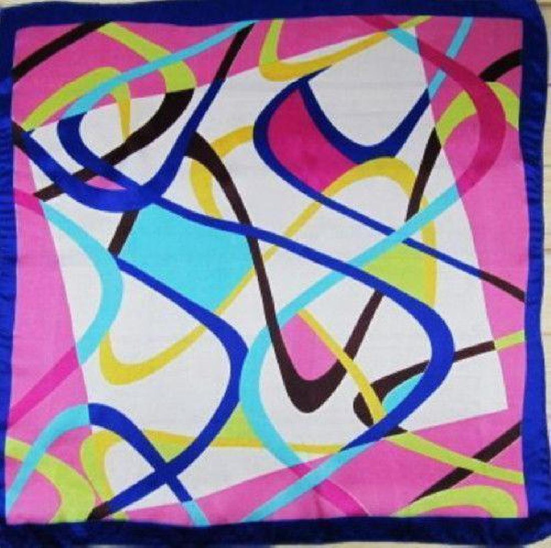Colorful Abstract Ladies Silk Summer Scarf - 2