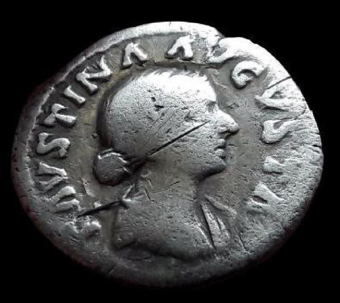 Roman Denarius Silver Coin Original Annia Faustina