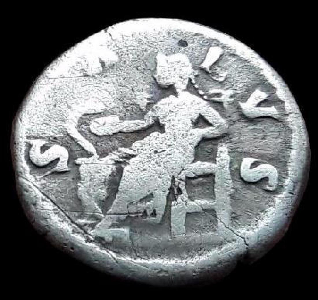 Roman Denarius Silver Coin Original Annia Faustina - 2