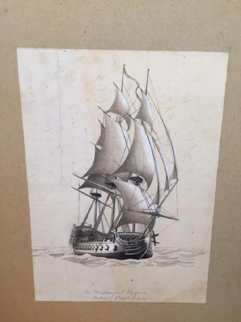 c1890 Signed H. Fletcher, Maritime Watercolor