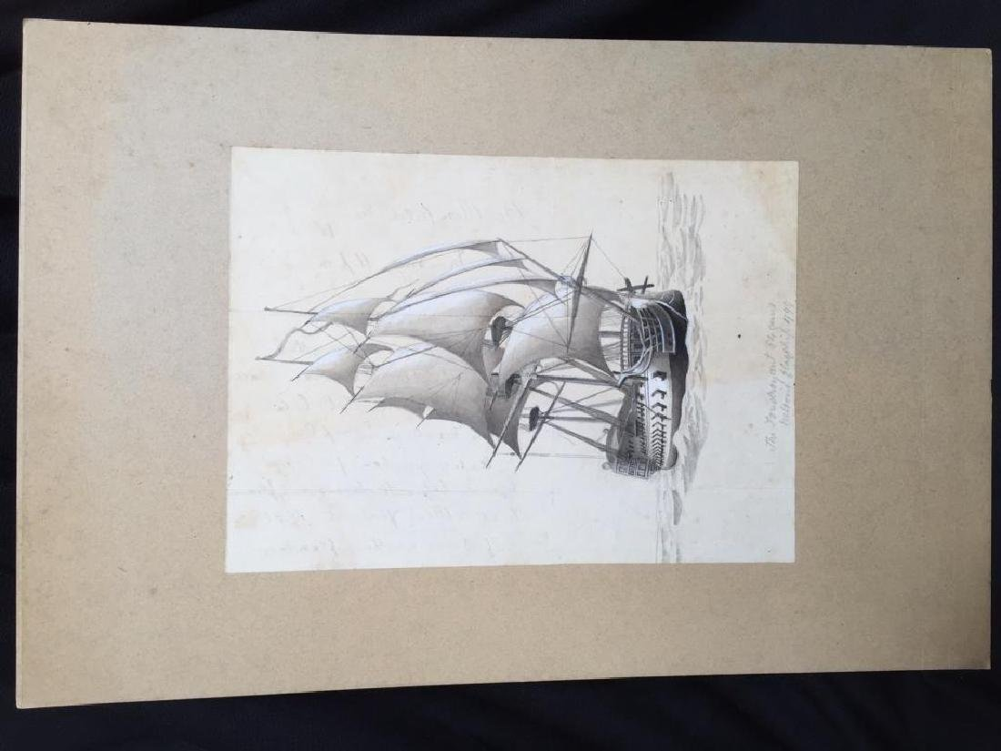 c1890 Signed H. Fletcher, Maritime Watercolor - 3