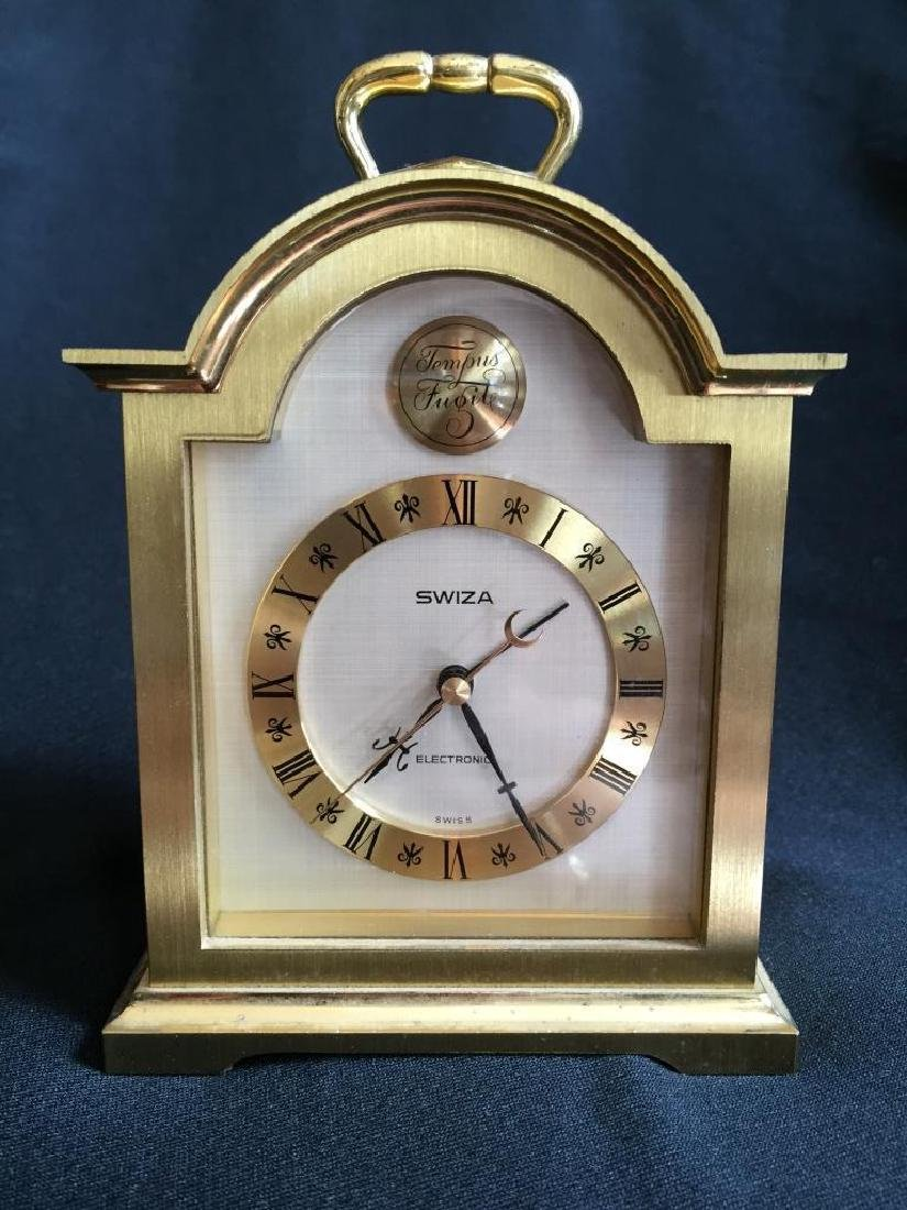 Vintage Swiss Swiza Sheffield Carriage Clock