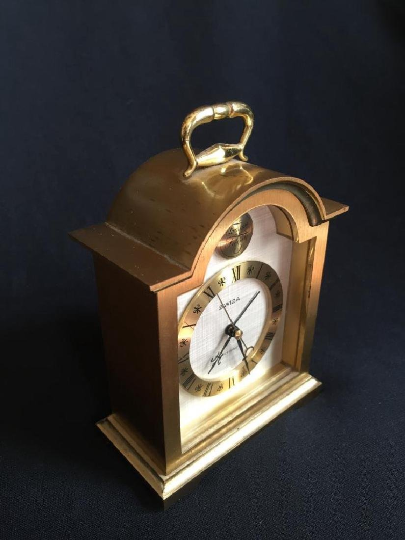 Vintage Swiss Swiza Sheffield Carriage Clock - 2