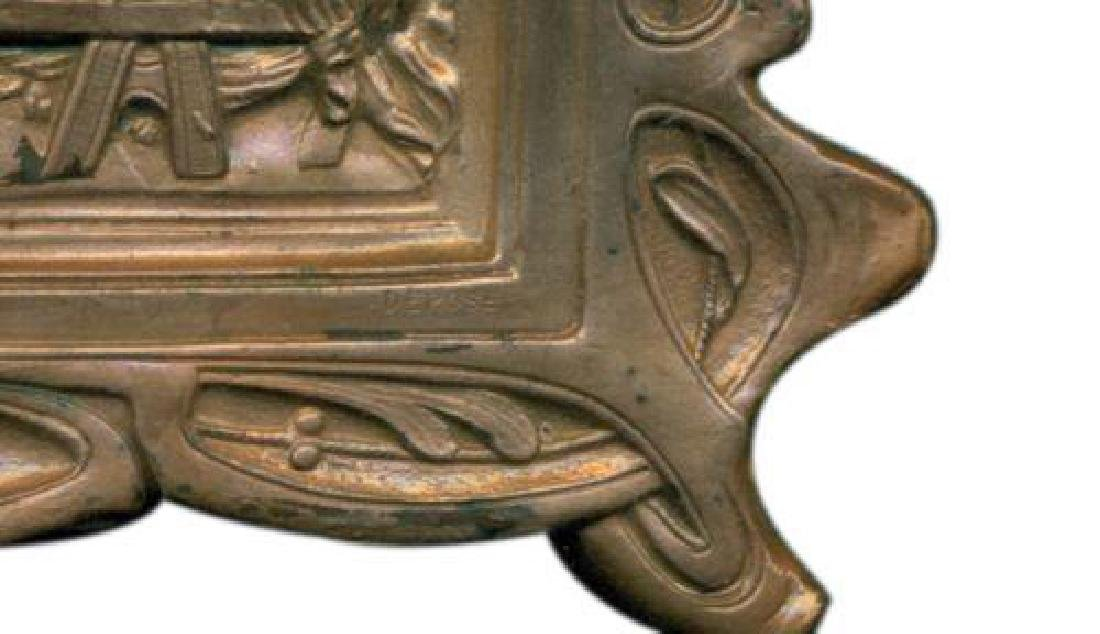 "Vintage-034 ""The Last Supper"" Copper on Bronze Plaque - 4"