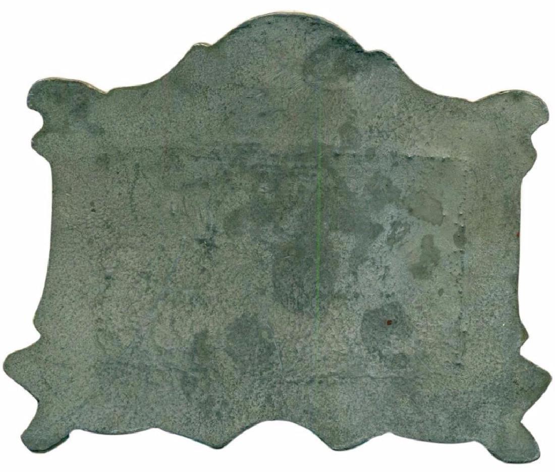 "Vintage-034 ""The Last Supper"" Copper on Bronze Plaque - 6"