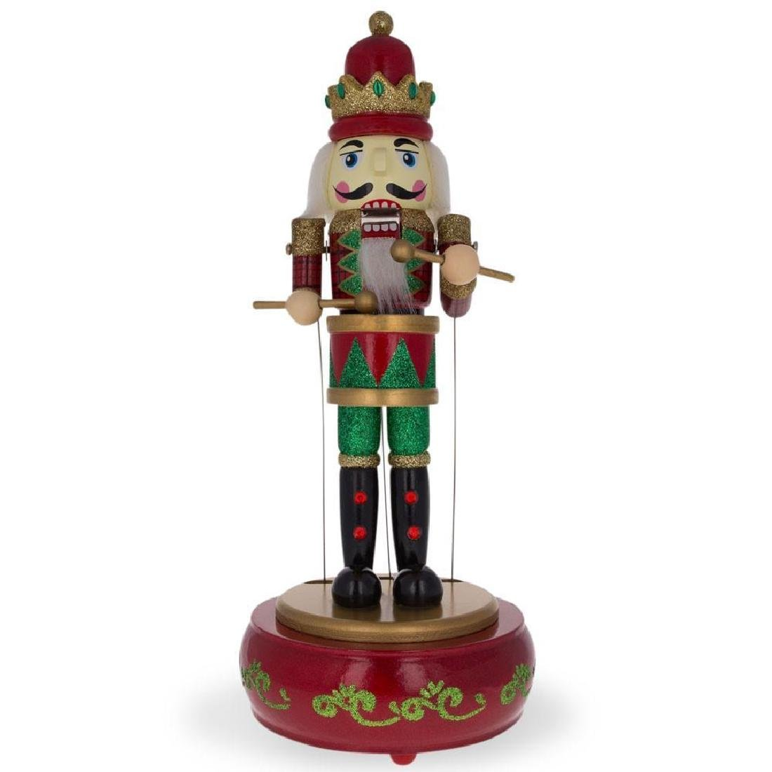 """13"""" Animated Nutcracker with Moving Arms Christmas"""