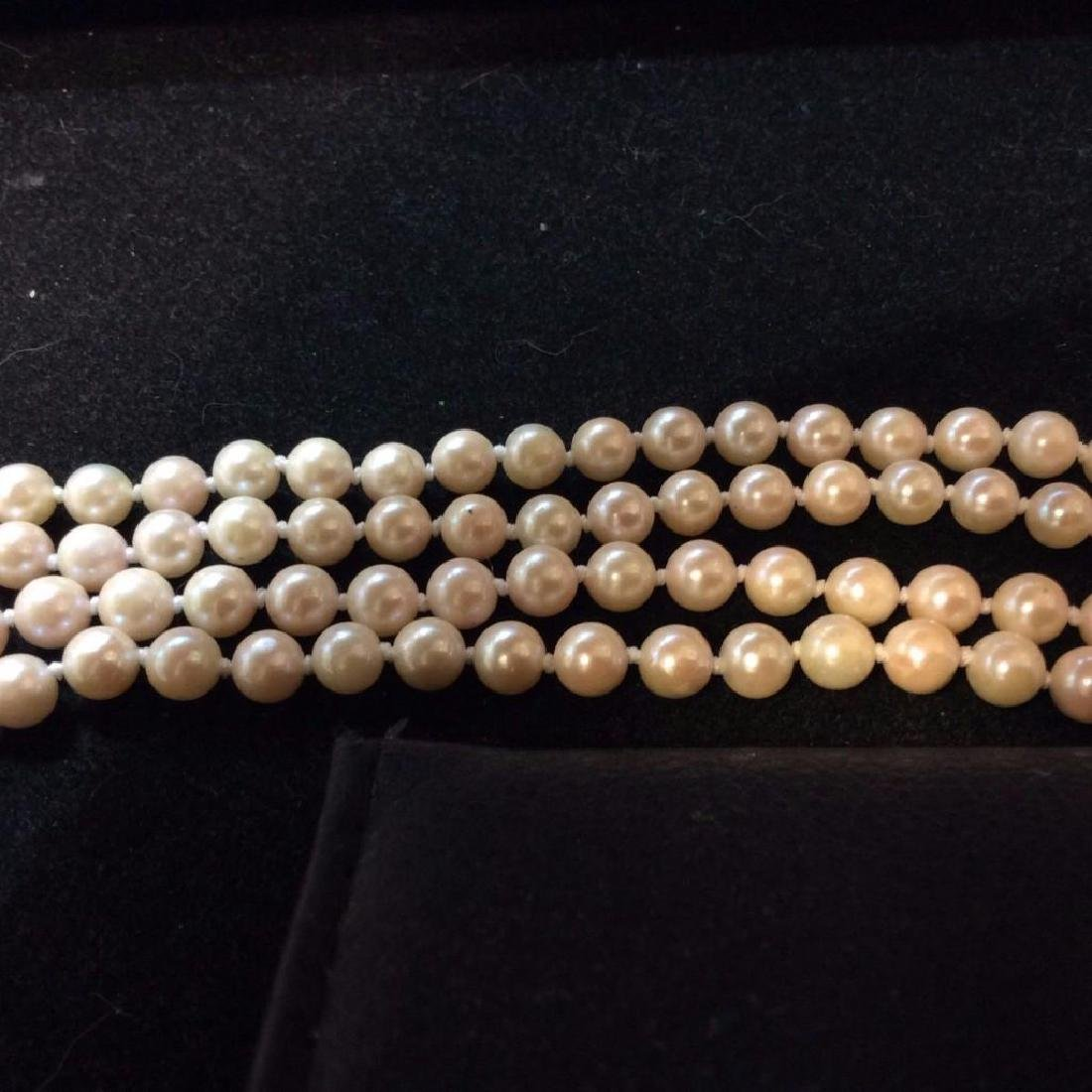 Vintage-14k-yellow-clasp-quality-pearl-necklace - 3
