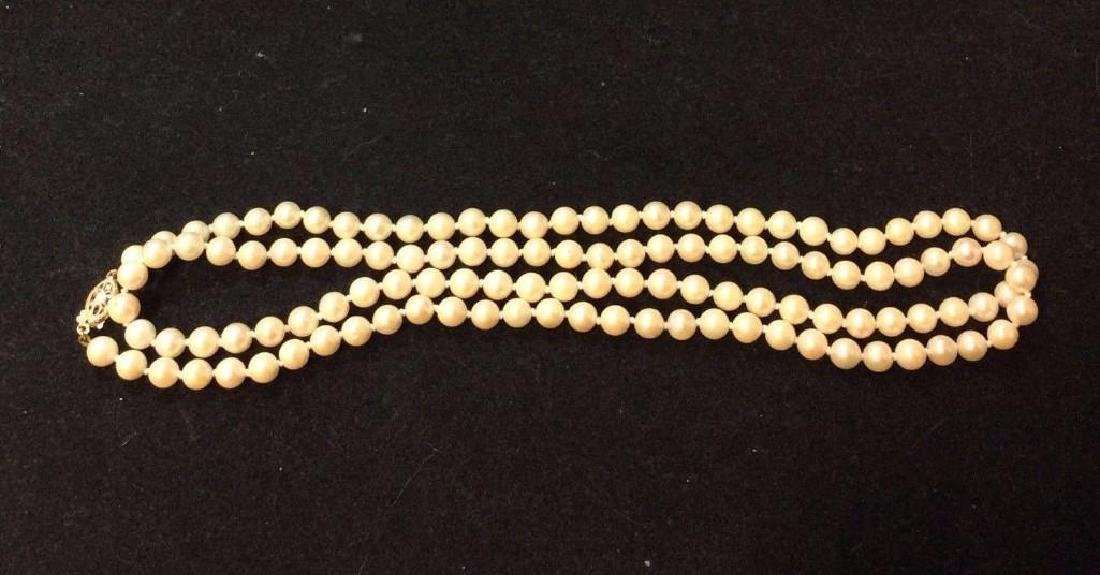 Vintage-14k-yellow-clasp-quality-pearl-necklace - 5