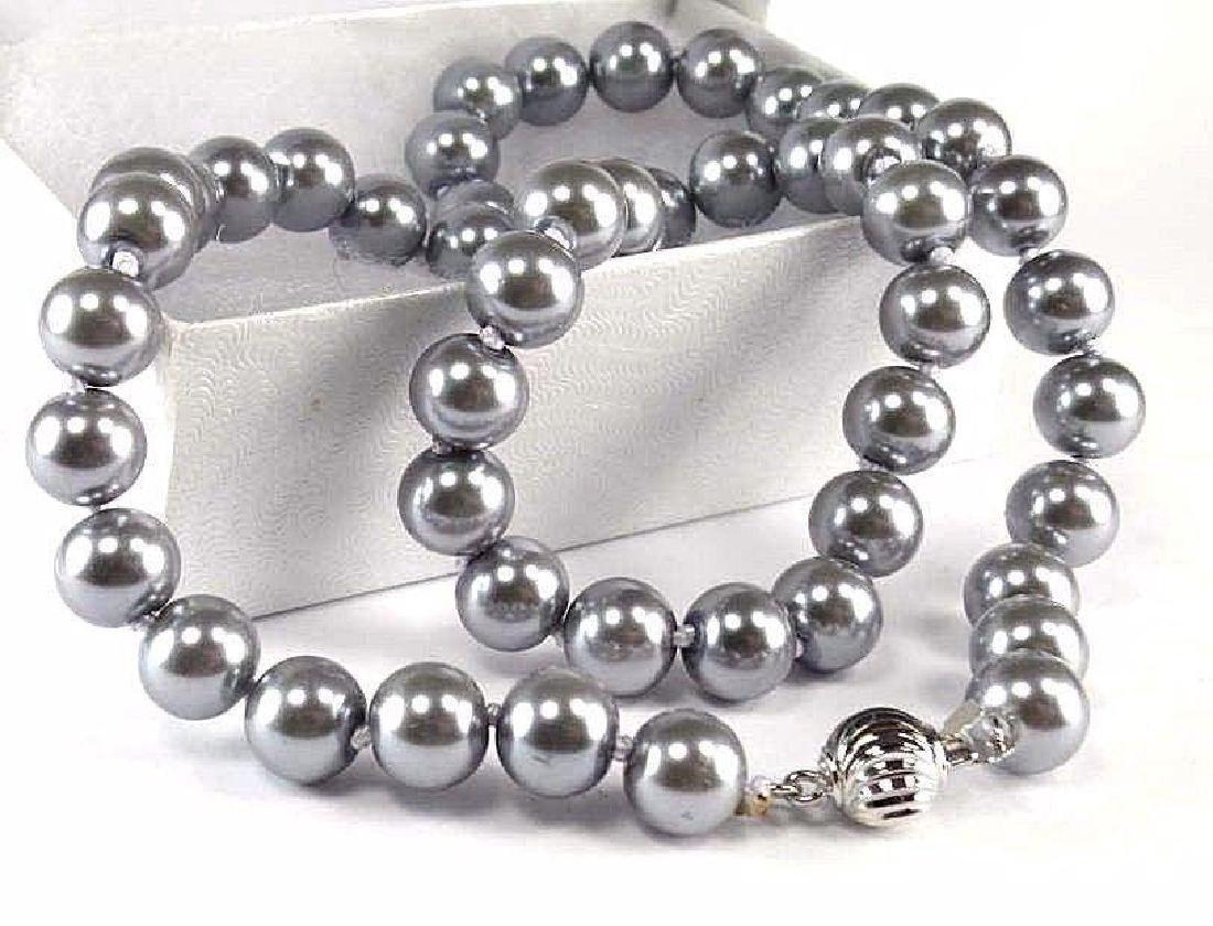"18"" Gray Akoya Pearl Necklace"