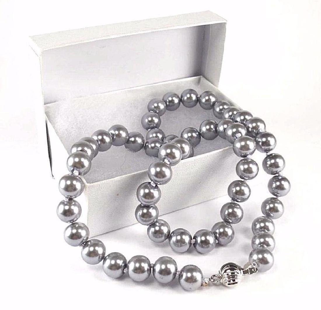 "18"" Gray Akoya Pearl Necklace - 2"