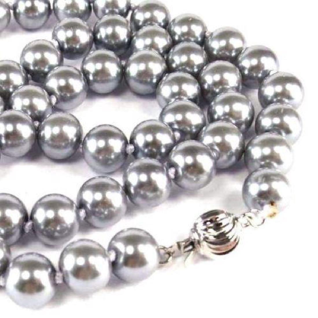 "18"" Gray Akoya Pearl Necklace - 3"