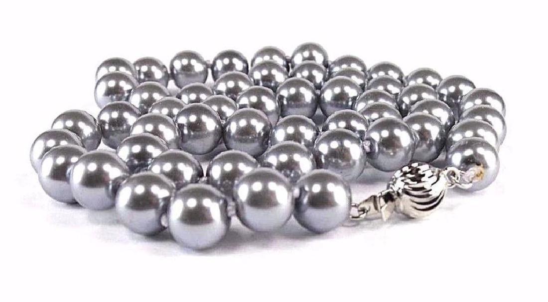 "18"" Gray Akoya Pearl Necklace - 4"