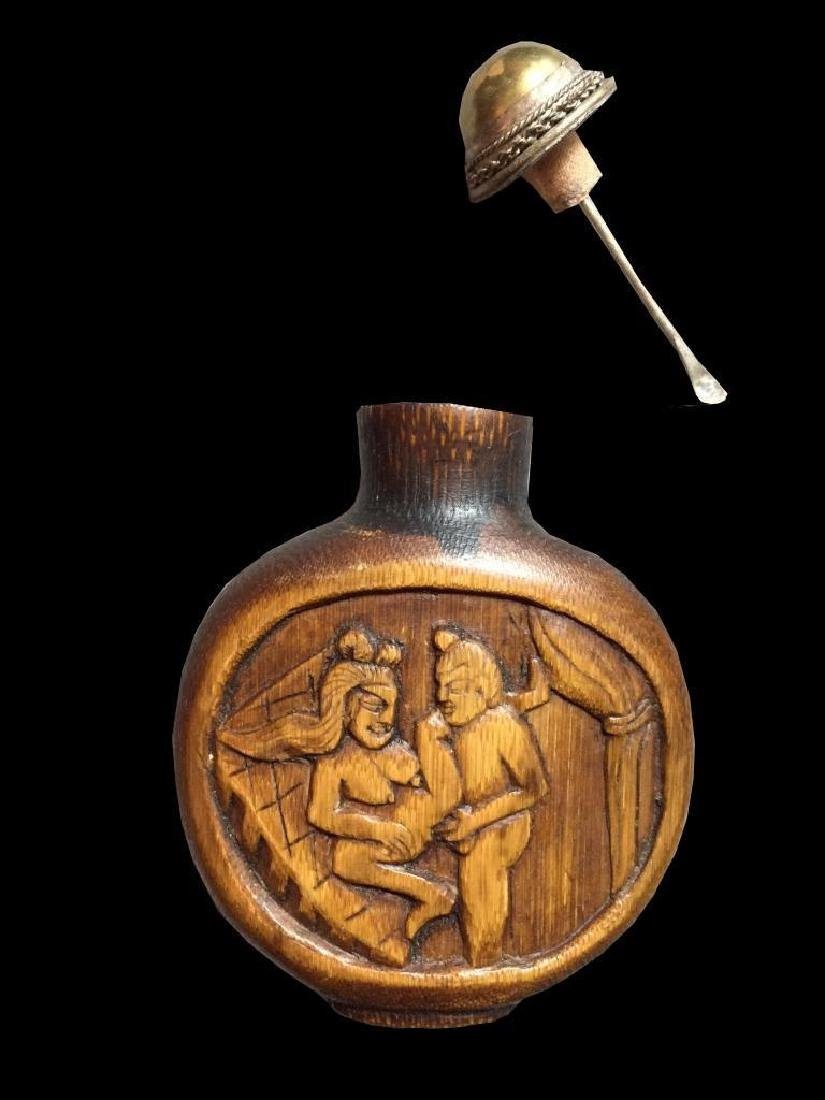 Antique Asian Erotic Scenes Snuff Bottle