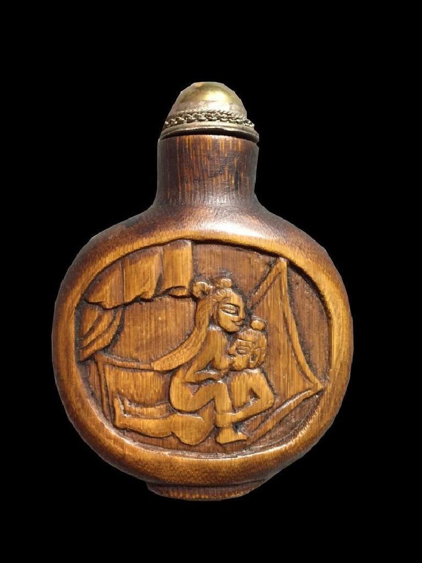 Antique Asian Erotic Scenes Snuff Bottle - 2