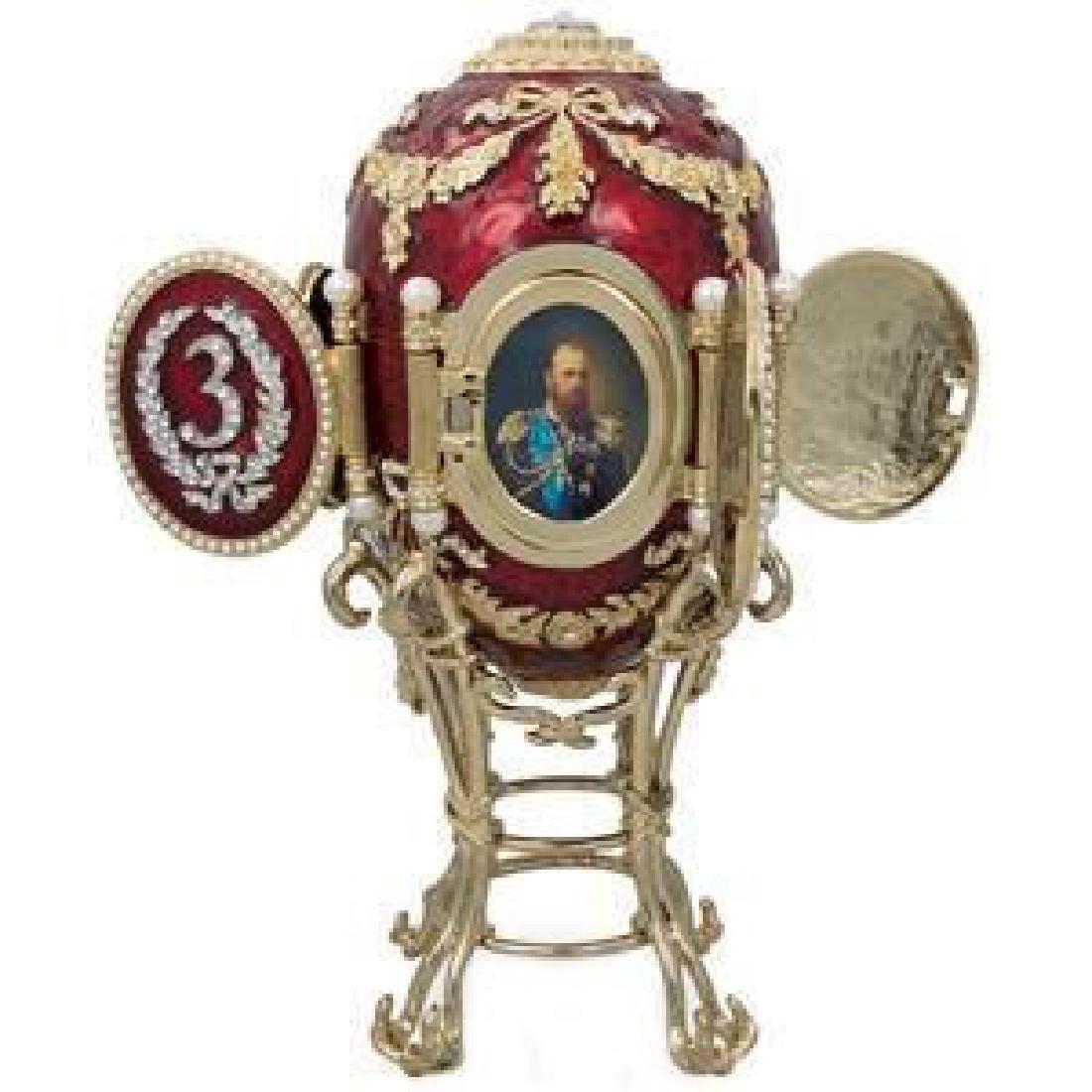 Faberge-inspired 1893 Caucasus Faberge Egg