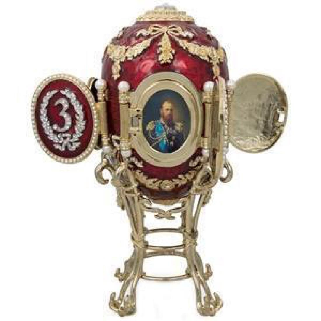 Faberge-inspired 1893 Caucasus Faberge Egg