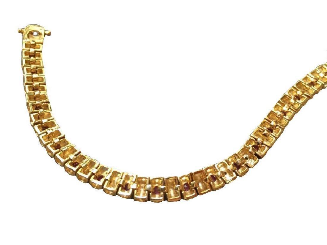 Ruby & Diamond Tennis Bracelet - 3