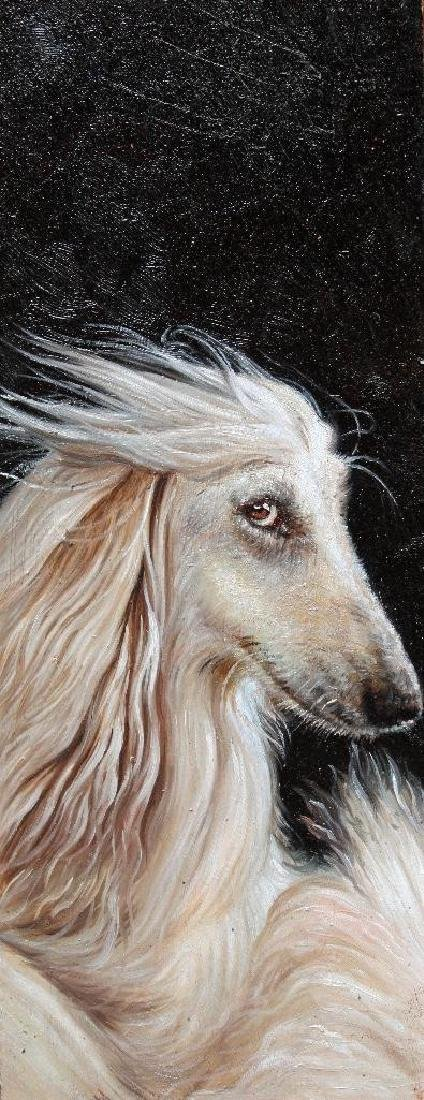 Oil Painting, Afghan Hound