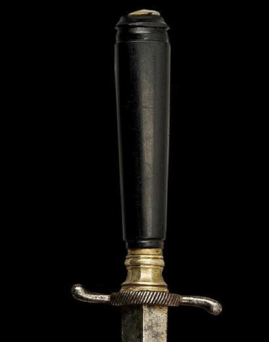 19thc Ebony Armor Piercing Dagger - 2