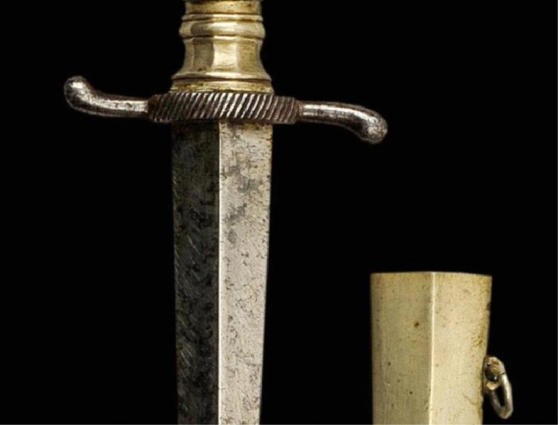 19thc Ebony Armor Piercing Dagger - 3