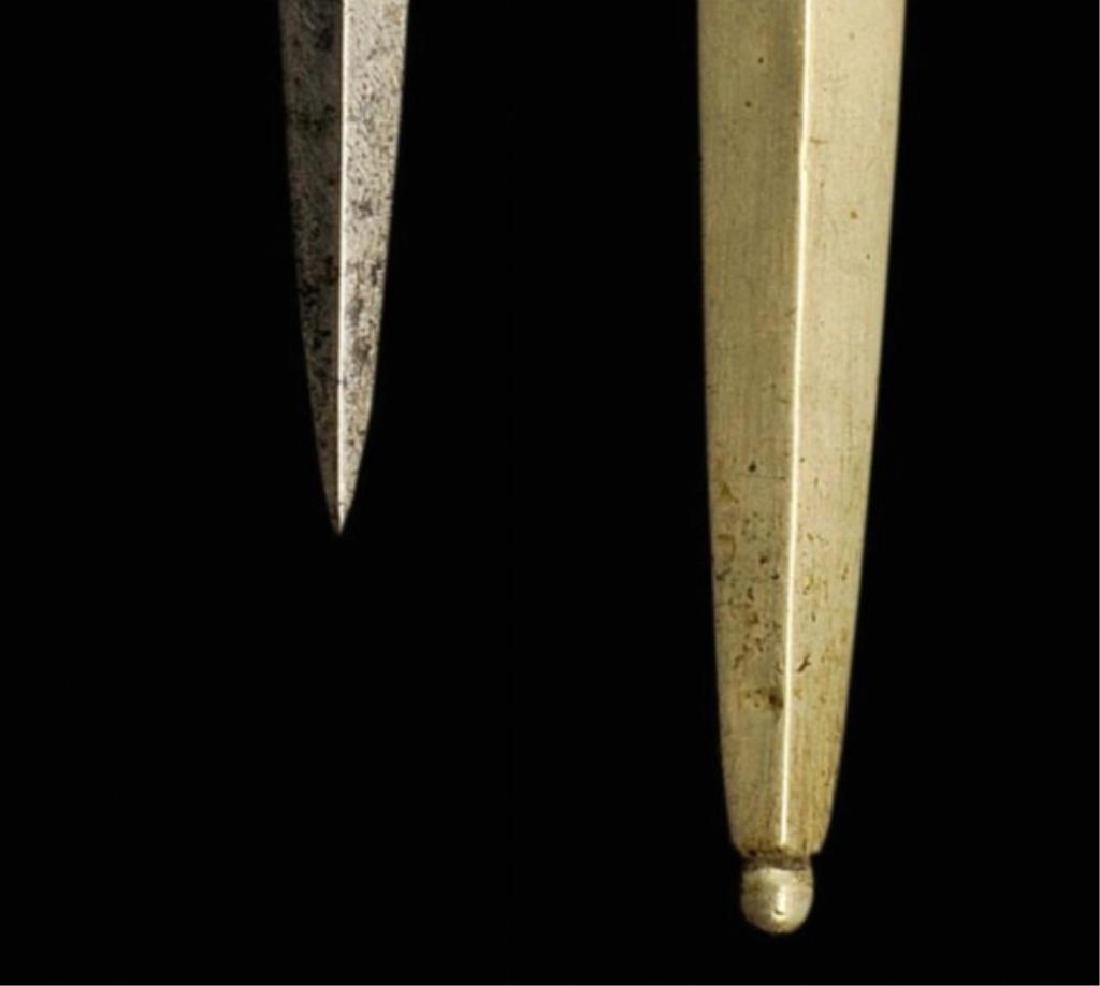 19thc Ebony Armor Piercing Dagger - 4