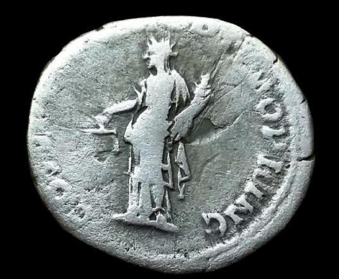 Original Antique Coin Silver Trajan Traianus Roman - 2