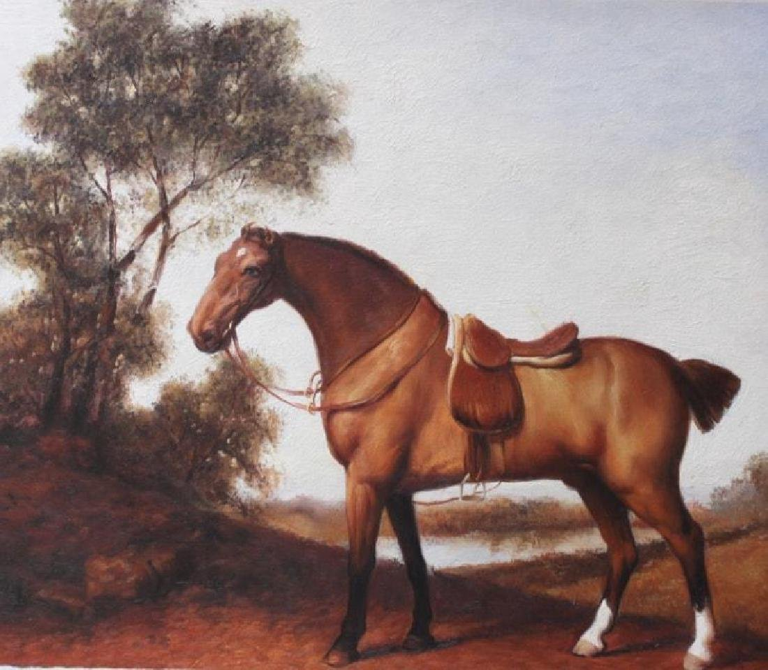 After Stubbs, British Sporting, Oil Painting (masterful