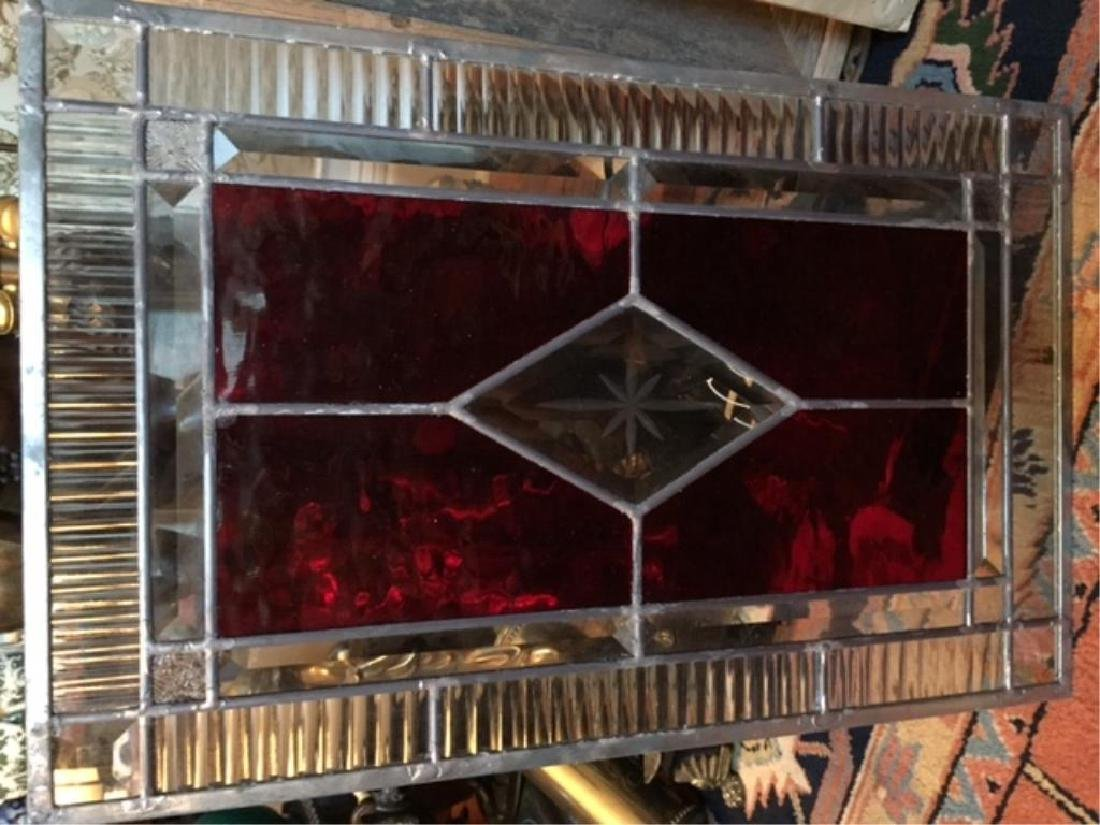 Gothic Red Stained Glass Window Hanging - 3