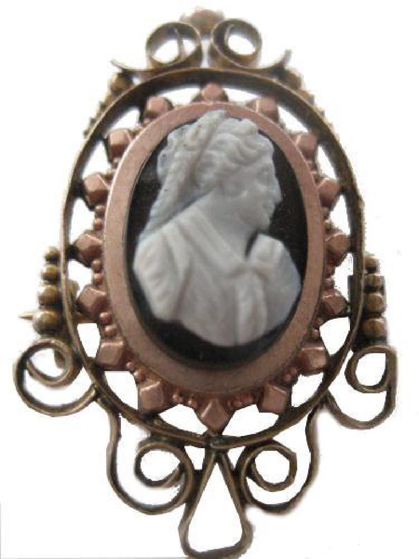 Queen Victoria Carved Onyx Mourning Cameo