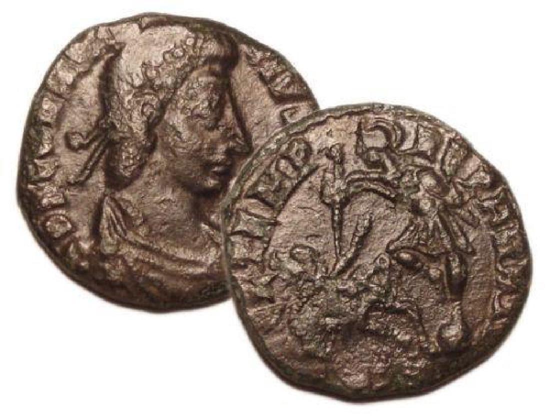 Constantius Ii 337-361 Ad ? Nummus Roman Bronze Coin - 3