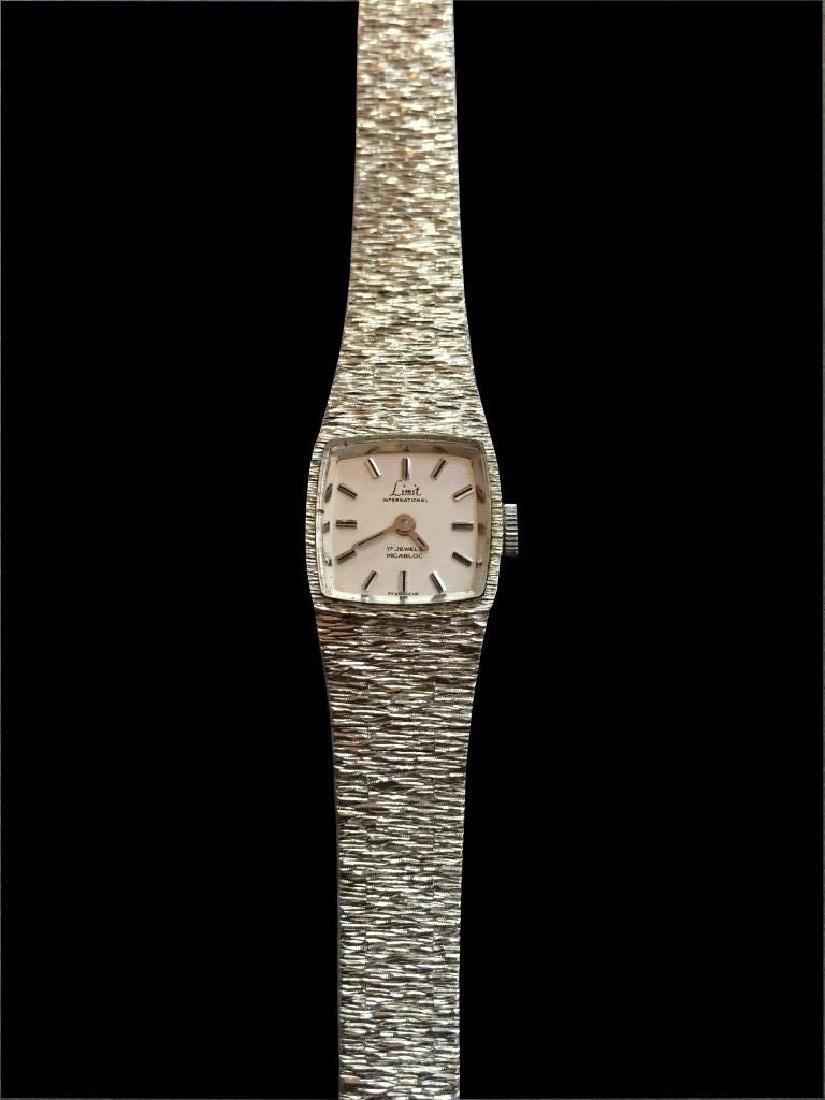 Vintage 1970's Silver Limit Ladies Bracelet Watch - 2