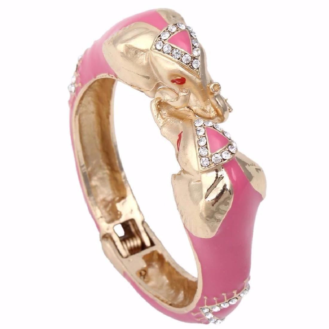 Pink Elephant, Designer Cuff Bangle Bracelet