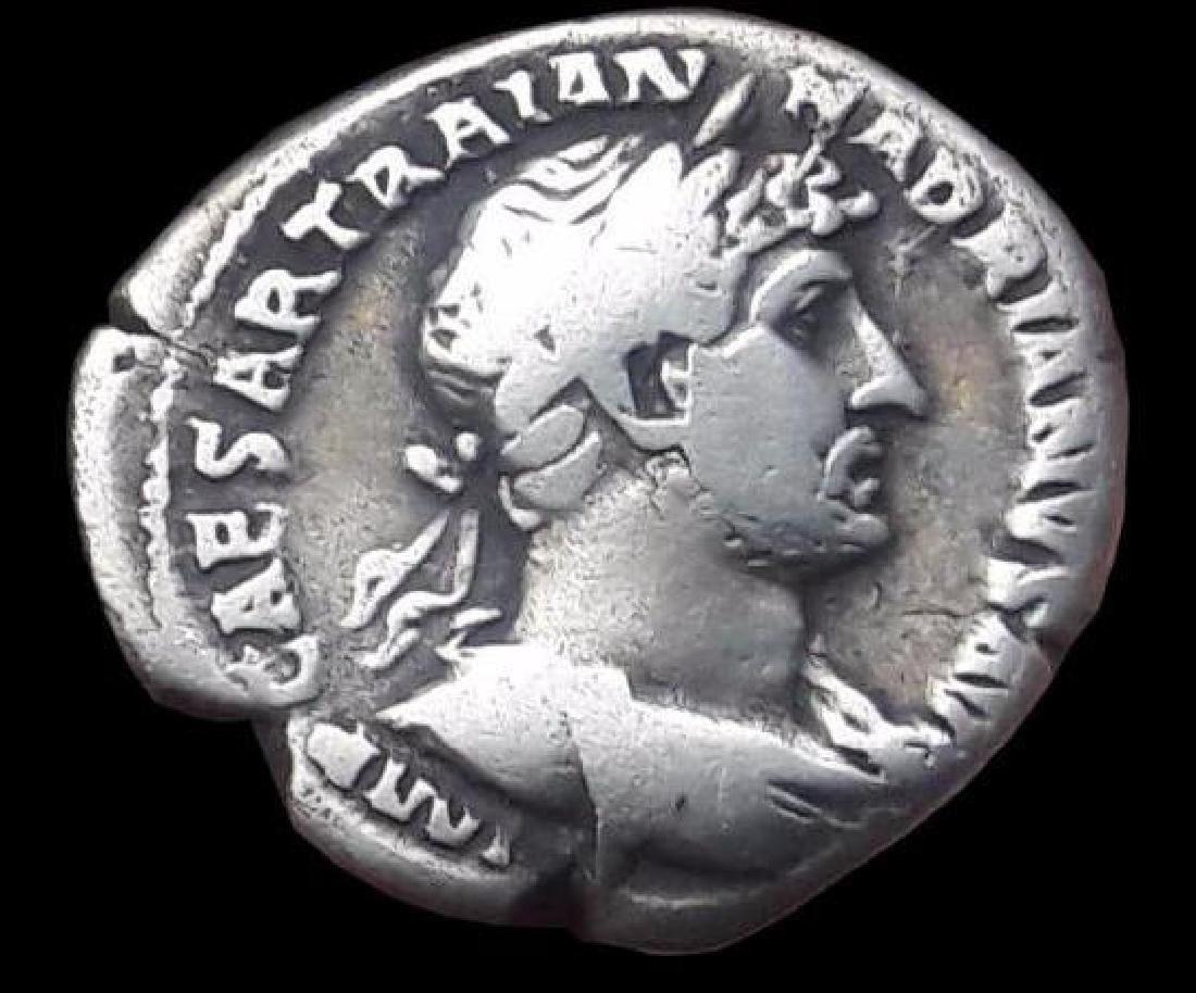Roman Denarius Silver Coin Original Hadrianus 117-138 - 2