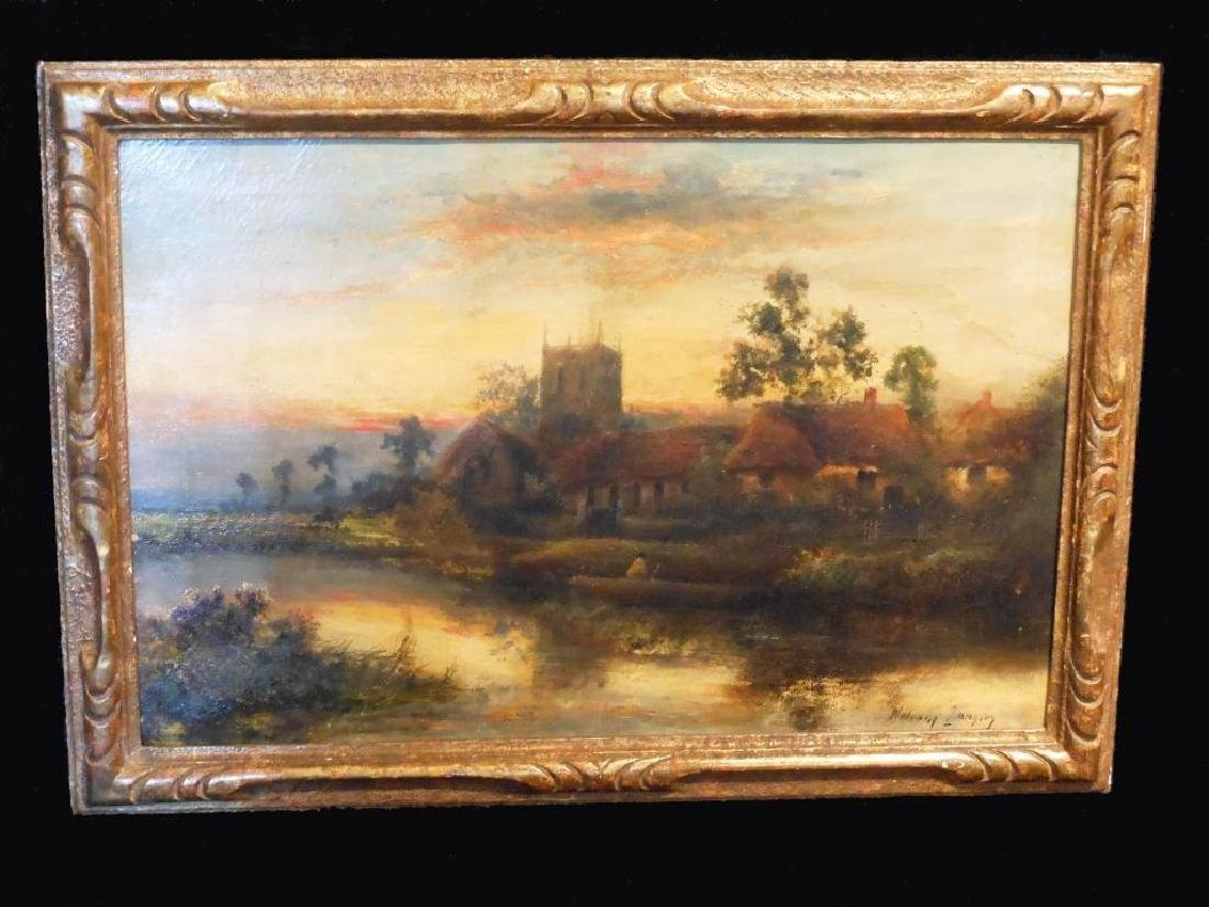 19thc Signed Oil Painting, British Landscape