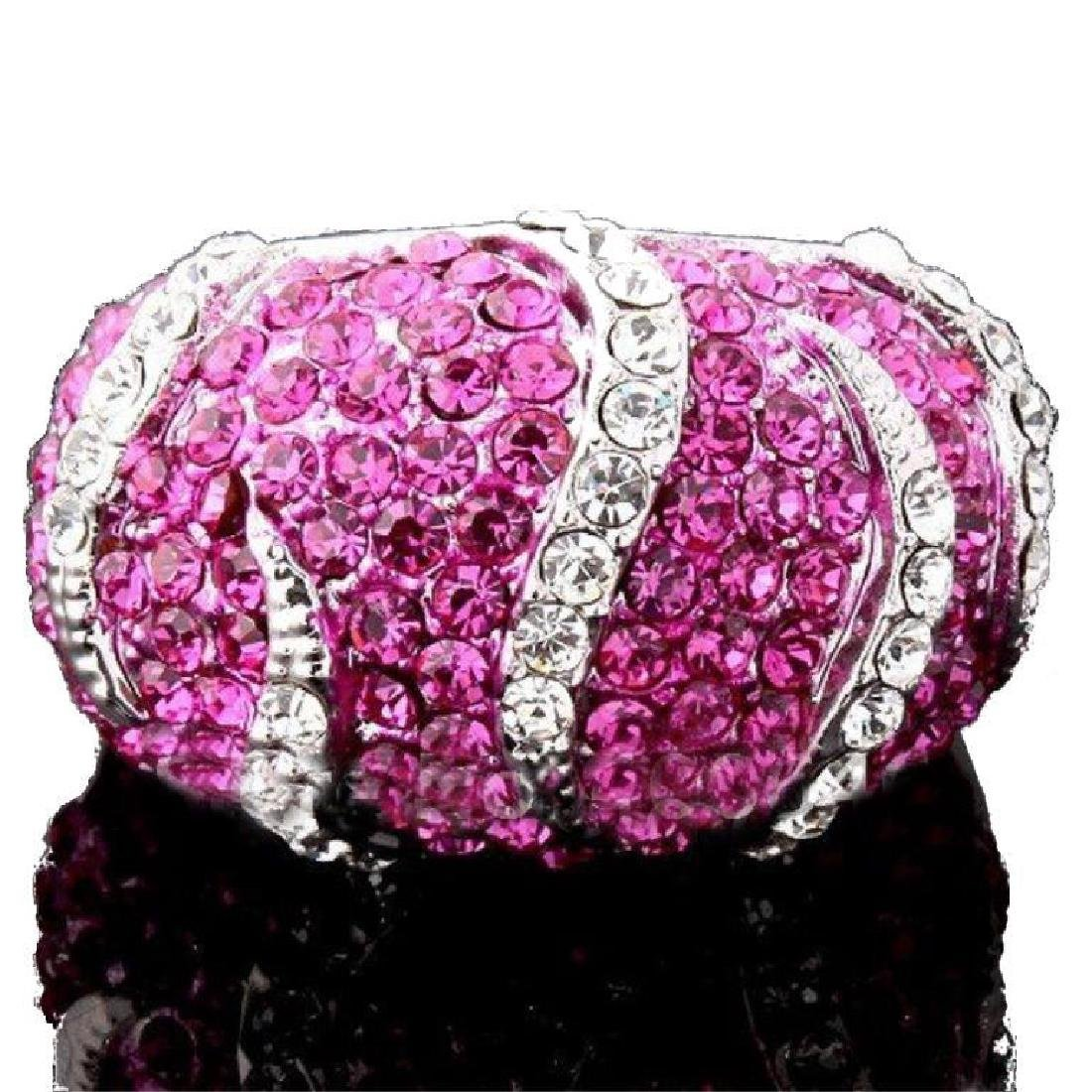 "Pink Swarovski Crystal Ring ""Animal"" Ring."