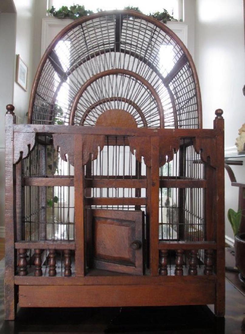 Rare Victorian Wooden Bird Cage
