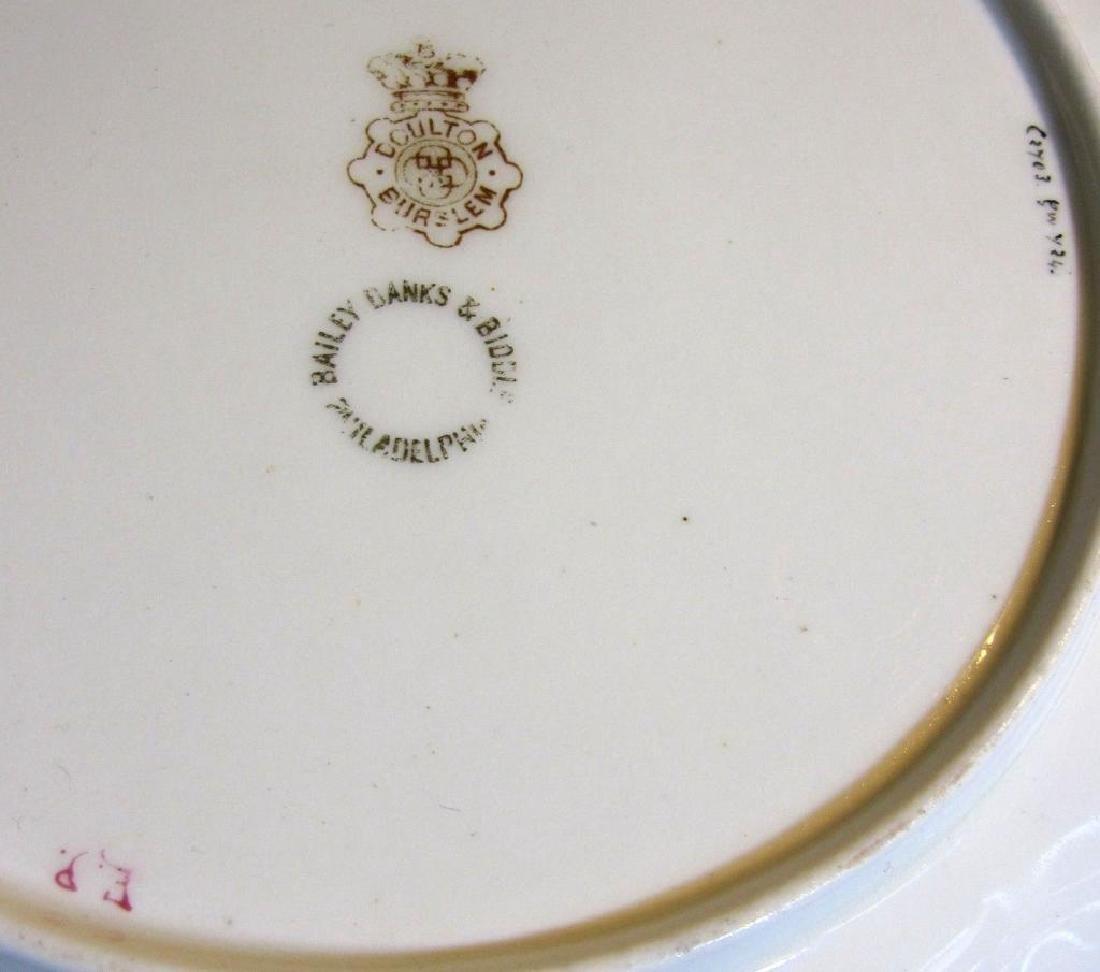 19thc Royal Doulton Bailey Banks & Biddle Plate - 5