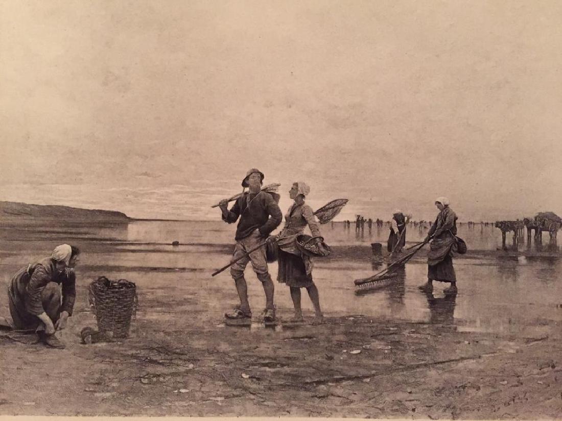1880's Photogravure Print, Swedish Fishers